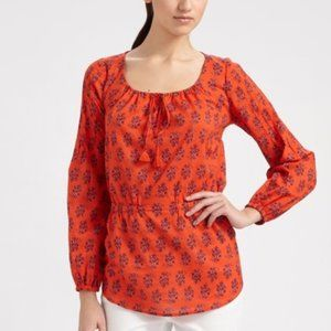 Tory Burch Evelina Tunic Floral Peasant Top
